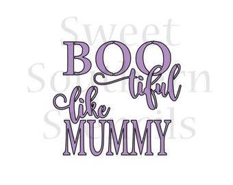 Bootiful Like Mummy Halloween Cookie Stencil