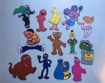Sesame Street Character die cuts. Set of 13 total die cuts.