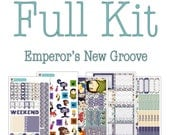 FULL KIT FRIDAY***Emperor's New Groove Collection - Emperor's New Groove Planner Stickers - Disney Planner Stickers