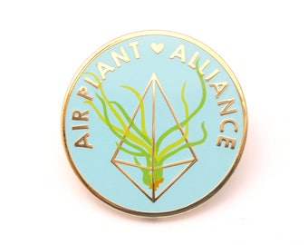 Air Plant Alliance Pin (air plant pin tillandsia pin himmeli plant lover cute backpack pin plant gift garden plant enamel pin game flair)