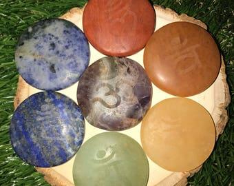 34: Chakra, Chakras, Chakra Stones, Chakra Stone Set, 7 Chakra Stone Set, Chakra Stones, Reiki Stones, Reiki