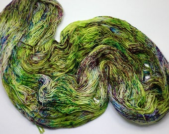 Grasshopper - hand dyed on Authentic Sock