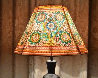 Indian lampshades etsy floor lampshade medium lamp shade painted lampshade lamp shade indian lampshade aloadofball Choice Image