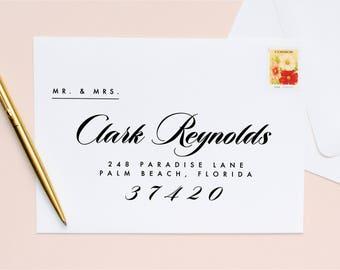 Guest + Return Address Printing   Modern Script
