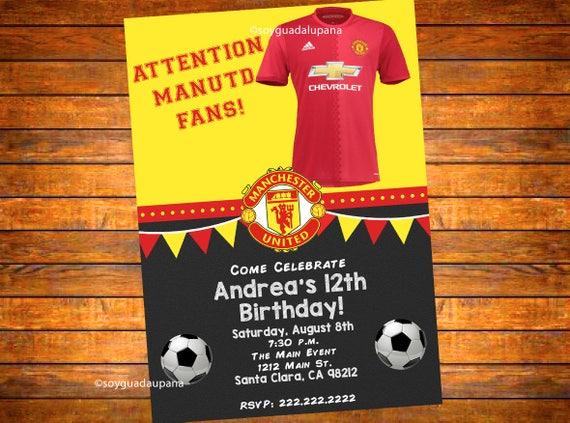 Wedding Invitations Manchester: Manchester United Personalized Invitation Digital Download