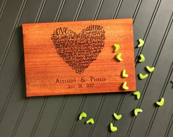 Cutting Board, 1 Corinthians, Love is Patient, Love is Kind, Personalized Cutting Board,Newlywed Gift, Anniversary Gift, Wedding Gift
