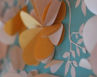 Alternative Wedding Guest Book – Mint / Gold  Wedding Day Memento Keepsake by Pomponi