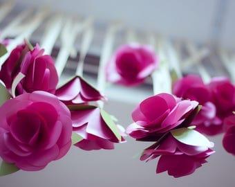 Single Paper Rose Bouquet - Large Paper Flower - Unique Wedding Bouquet