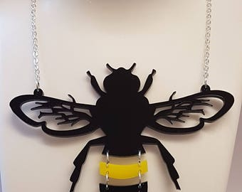 Statement Bumble Bee Necklace - Acrylic
