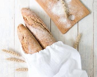 Bread Bag - Linen Products Bag - Linen drawstring bag - Natural Linen Bag - Storage Bag - Reusable bag - Gift idea