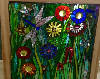 Stained Glass mosaic Window box