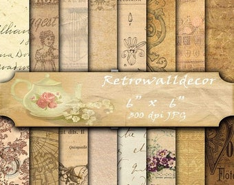 30%OFF Old paper digital paper pack with vintage papers and old notebook papers invites cards Old Vintage Handwriting paper 6x6 Buy 2 Get 1