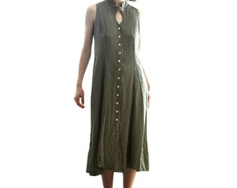90's Gingham Midi Dress - 90s Grunge, Tumblr Fashion, Tumblr Dress, Tumblr Clothing, Loose Dress, Pinterest Clothing, Summer Dress