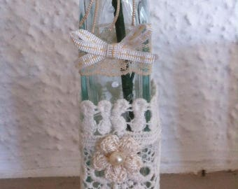 customized bottle shabby chic vase