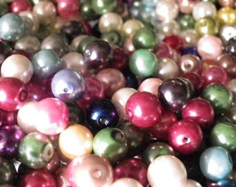 3000 Pearl multicolored 8 mm pearl beads