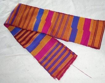 Kente Cloth Strip, Hand Woven, Asante, Ghana Africa