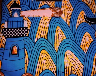 Wholesale 6 Yard Cut, African Wax Print by Vlisco, coton fabric