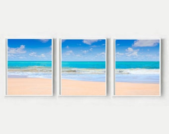 Coastal Decor, Set Of 3 Prints, Beach print, Ocean Prints, Triptych, Printable Art, Instant Download, Wall decor