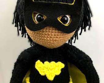 African American Crochet Doll - Batgirl