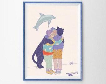 "art print ""inside your hug"""
