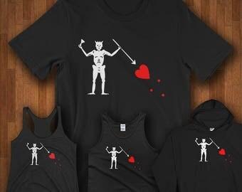 History Shirts - Pirate Blackbeard Flag Shirts