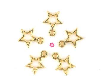 x 10 (221D) 10mm Gold Star charm