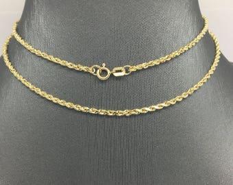 14K Yellow Gold Rope Chain ~1.80mm