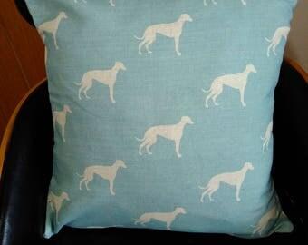 Lurcher/Greyhound Linen cushion/pillow