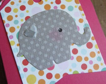 Baby Shower Favor (4)/Elephant Baby Shower/Elephant Tag/Girl Baby Shower/