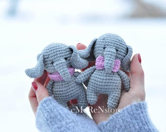 Crocheted Elephant/Nursery Decor / Amigurumi / Gift idea/ Cute elephant with scarf/ pretty elephant toy/ baby shower gift/photography prop