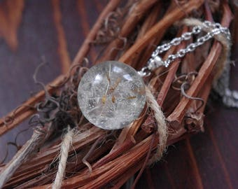 Dandelion Wish necklace Real Dandelion Necklace Dandelion Wish Sphere Dandelion Pendant Resin Jewelry Pressed Flower Botanical Jewelry
