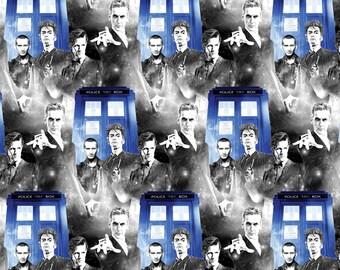 Doctor Who Police Public Call Cotton Woven, Doctor Who Fabric, Tardis Fabric, Dr Who Fabric, Tardis Material, Dr Who Tardis, Tardis Material