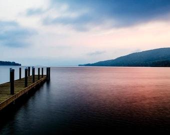 Lake George, Adirondack Mountains, Lake George Picture, Lake George Photo, Adirondack Sunrise Photography, Nature Print, Adirondack Decor