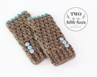Crochet fingerless gloves, fingerless gloves, crochet gloves, gloves with buttons, Barley and light blue, child size, LOLA FINGERLESS GLOVES