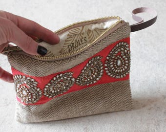 """""""Travel in India"""" pouch"""
