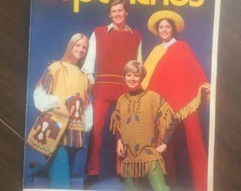 PONCHOS Knit & Crochet Columbia Minerva leaflet 2520