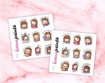15% OFF S006 | Keenachi B Sampler Stickers Perfect for Erin Condren Life Planner, Filofax, Plum Paper & other planner or scrapbooking
