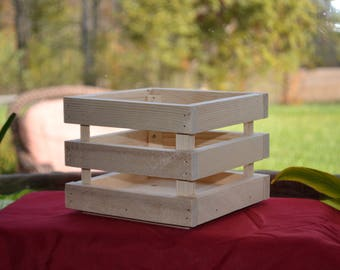 Rustic crate made from reclaimed lumber/ centerpiece crate/ wedding crates/ organizer/ storage crate