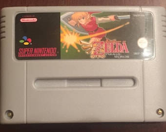 The Legend of Zelda Parallel Worlds Fan Made Custom Super Nintendo SNES Game. 16 bit PAL VERSION