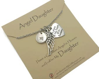 Angel Daughter Memorial Necklace, Loss Of Daughter, Sympathy Gift, Memorial Jewelry, Remembrance Jewelry, Memorial Gifts, Sympathy Jewelry
