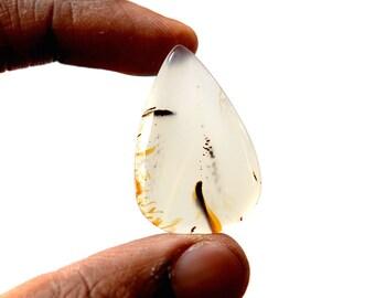 Montana Agate 32.5 Ct Pear Shape beautiful Natural Gemstone Cabochon 35x23x5 MM R14419