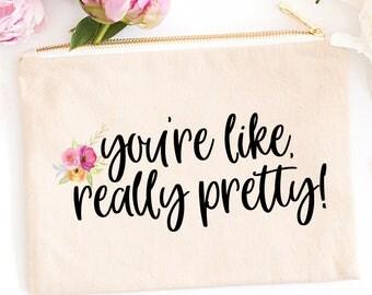 Make Up Bag   Cosmetic Bag   Bridesmaid Gift   Makeup Bag   Funny Makeup Bag   Gift for Her   Pencil Case