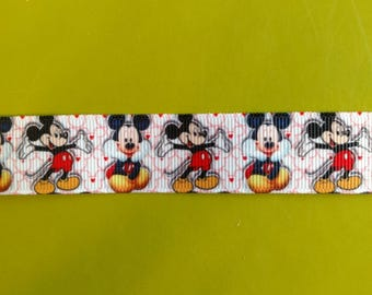 7/8 22 mm Mickey Mouse Inspired Grosgrain Ribbon