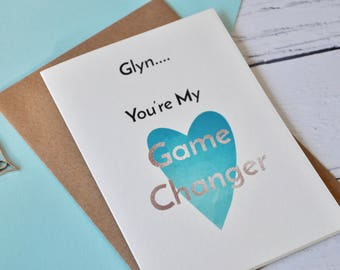 Game Changer Greetings Card, Wedding Day Card For The Groom, Card For The Bride, Love Note Card For Him, Card For Her