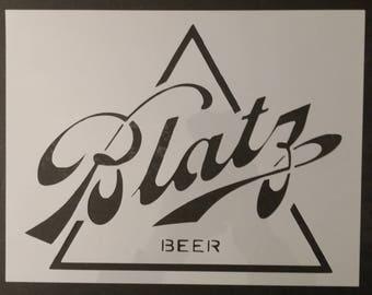 Blatz Beer Custom Stencil FAST FREE SHIPPING
