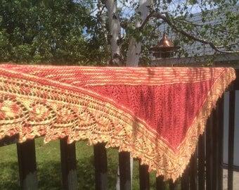 PDF knitting pattern summer breeze shawl