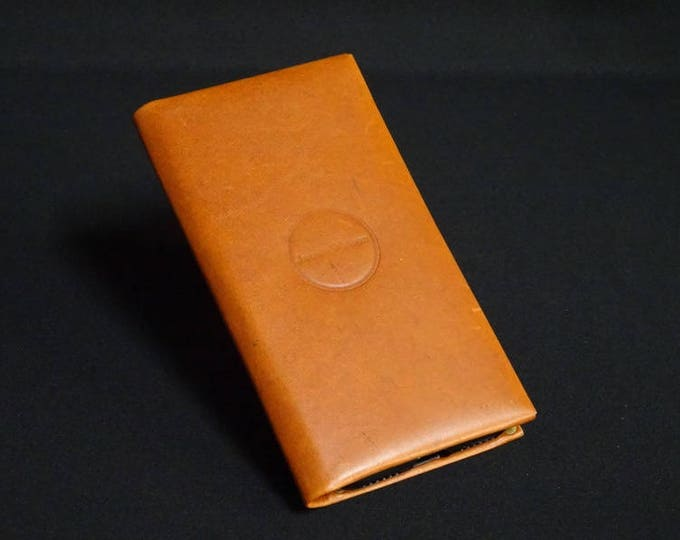 Smartfold-6 Phone Wallet - Whiskey Tan - Fits Apple iPhone 4 5 5S 6 6S 7 - Kangaroo leather with Credit Card Blocking