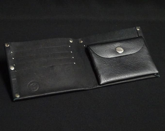 8Pocket Wallet with Coin Pocket - Soft Black - Kangaroo leather with RFID credit card blocking - Handmade - James Watson