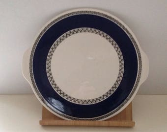 Villeroy and Boch porcelain serving dish with handles design  Saphir from Saar. Unused