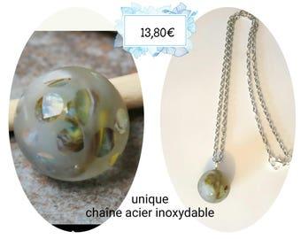 Unique handmade Lampwork cabochon necklace